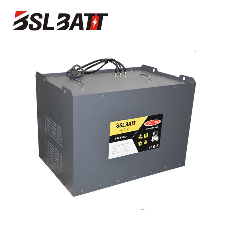 80V 535AH Industrial Truck Lithium Batteries for Toyota Used lift truck Class I