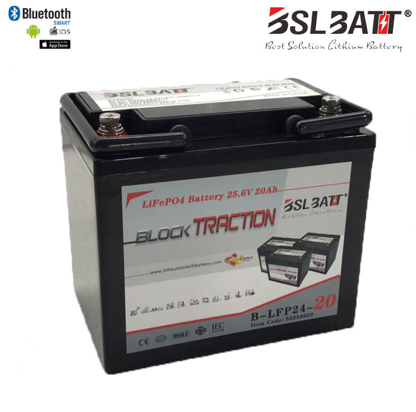24V 20Ah Lithium-ion Block Traction Battery
