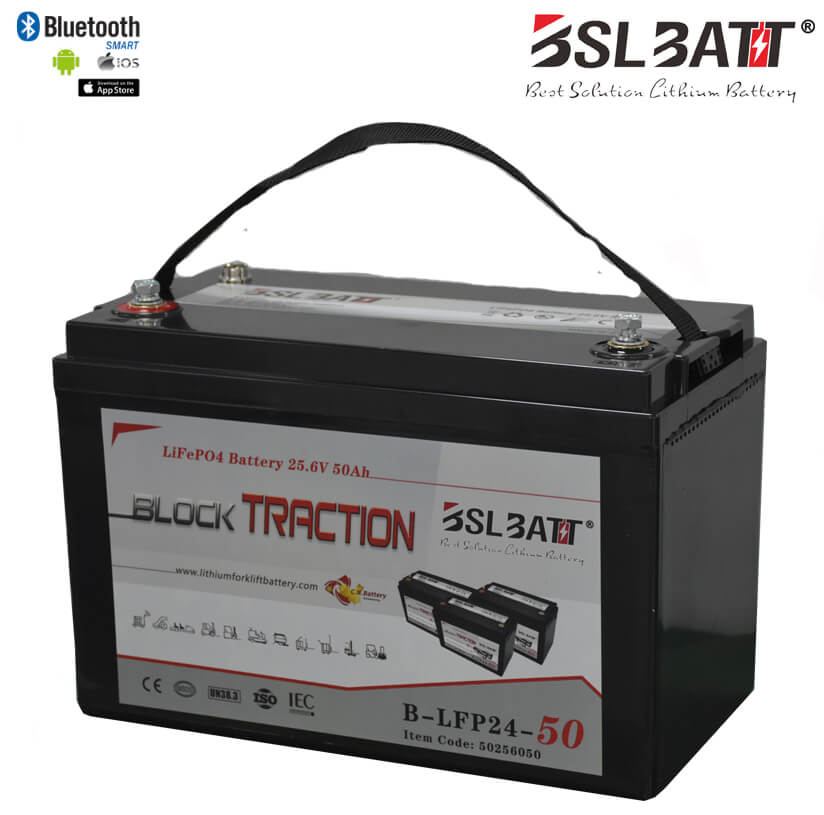 24V 50Ah Lithium-ion Block Traction Battery