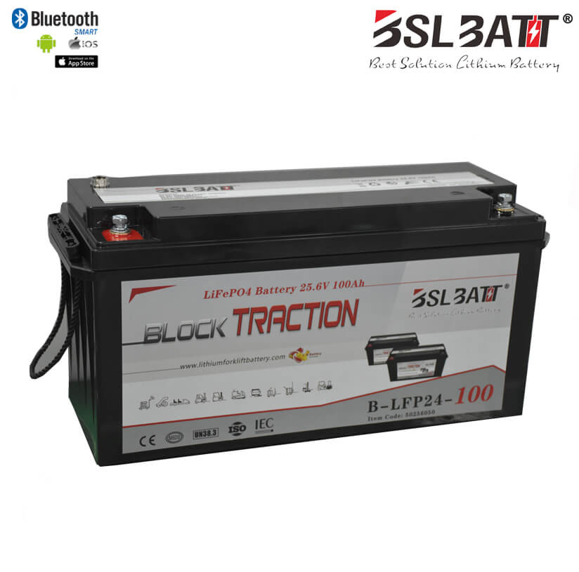 BSLBATT 24V-100AH Lithium-Ion Block Battery System with Charger