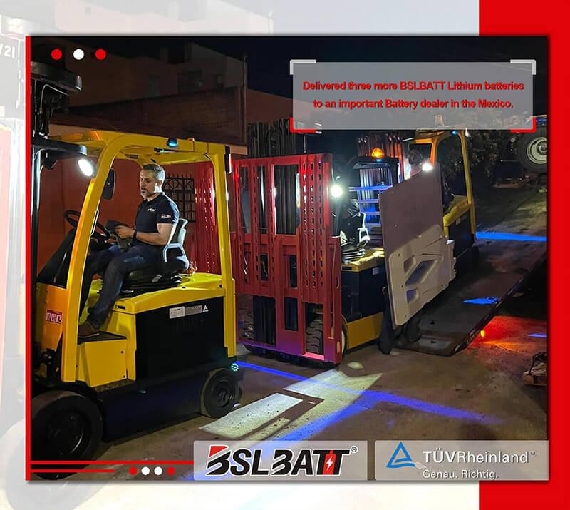 Livraison de trois autres batteries au lithium BSLBATT à un important revendeur de batteries au Mexique.