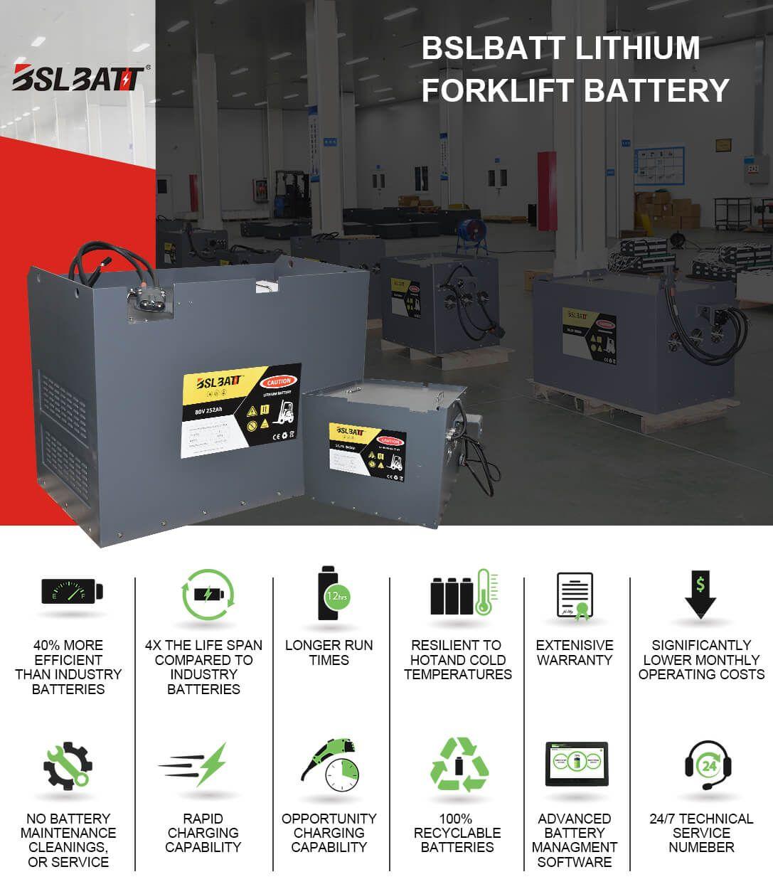 avantages des batteries au lithium dans les chariots élévateurs